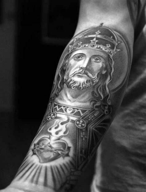 100 Sacred Heart Tattoo Designs For Men - Religious Ink Ideas