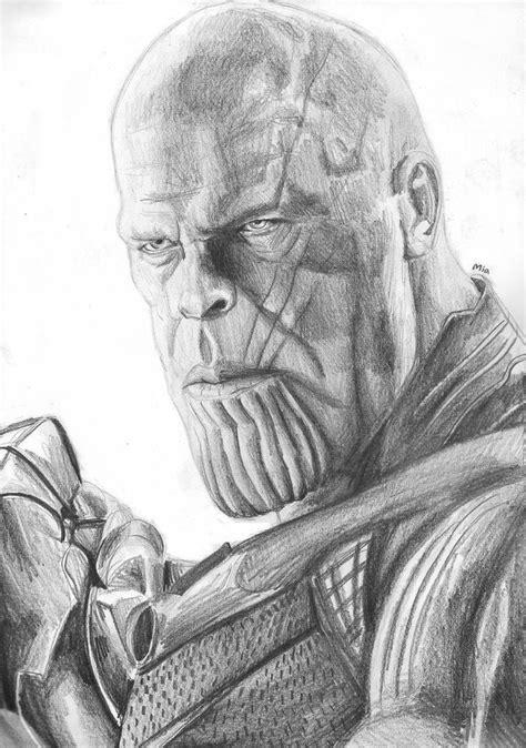 thanos infinity war sketch  maytheforcebewithyou