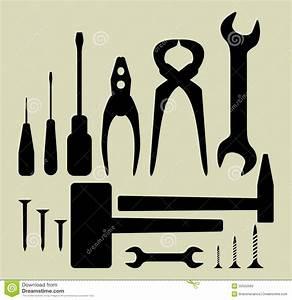 94 Outil De Bricolage : ensemble de silhouette d 39 outil de bricolage illustration ~ Dailycaller-alerts.com Idées de Décoration