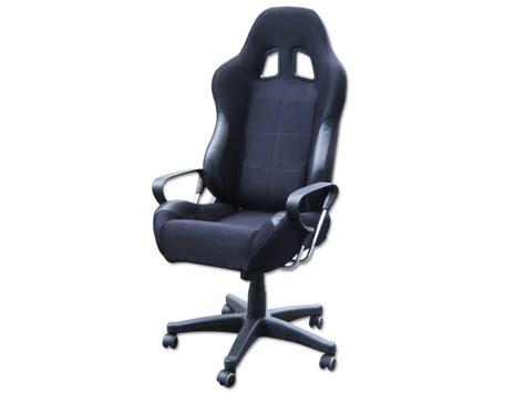 siege baquet belgique siège baquet fauteuil de bureau noir tissu et simili cuir