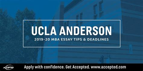 ucla anderson mba essay tips deadlines accepted