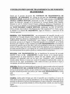 contrato privado de transferencia de posesion de inmueble With 4c documents