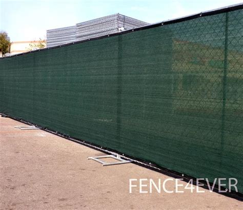 privacy cover for fence 6 x25 green fence screen privacy windscreen mesh cover fence4ever com