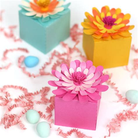 diy flower treat boxes  printable consumer crafts