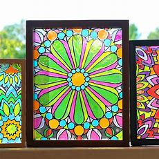 Mark Montano Faux Stained Glass Mandalas