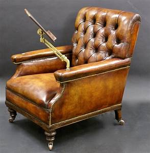 A, Large, Leather, Upholstered, Reading, Chair