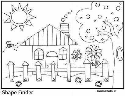 Shapes Coloring Shape Printable Pages Doodles Classroom