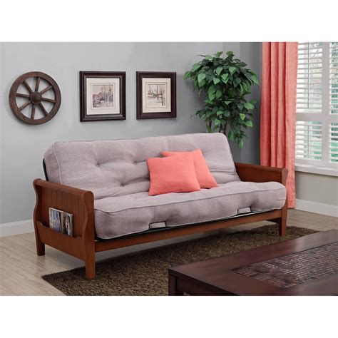 Wood Futon by Better Homes And Gardens Wood Arm Futon With 8