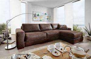 Eckcouch Leder Braun : leder eckgarnitur sofa couch eckcouch leder dunkelbraun longchair kontrastnaht wohnzimmer ~ Indierocktalk.com Haus und Dekorationen