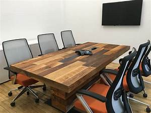 Reclaimed Wood Conference Table Popular Commercial Tables