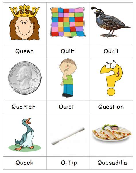 q words without u q words kindergarten