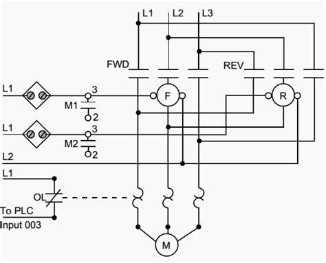plc implementation of forward motor circuit with interlocking