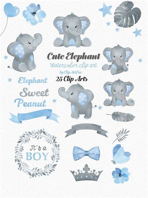 elephant boy clip art watercolor watercolor baby peanut