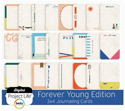 3x4 Cards Edition Journaling Forever Young Digitalprojectlife