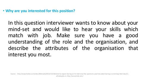 Briefly Describe Your Interest In This Position by Top Hr Questions And Answers Tips