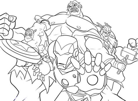 the heroic avengers coloring page download print