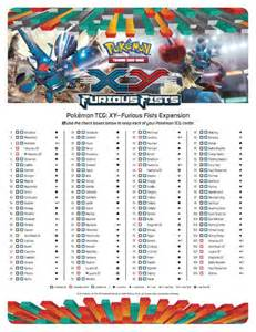 7 best images of xy pokemon checklist printable list