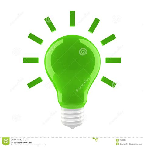 Lamp Symbol by Green Bulb Icon Royalty Free Stock Photo Image 7381295
