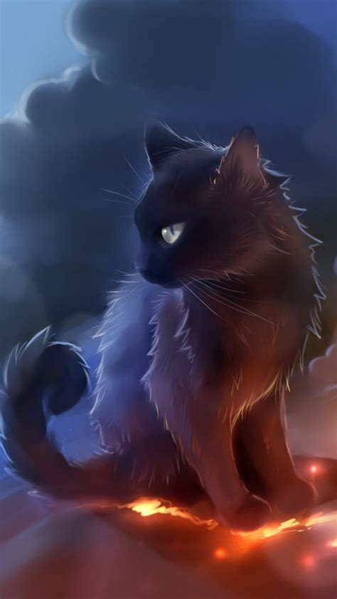 Anime Cat Wallpaper - black cat anime wallpaper free iphone wallpapers