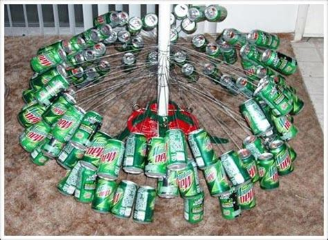 how to stand a real christmas tree how to make a mountain dew soda can tree the ultimate artificial tree