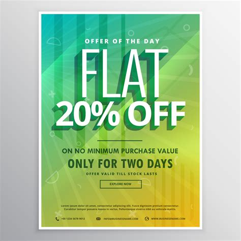 discount and sale brochure flyer poster template for ...
