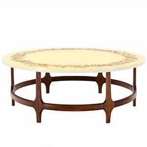 decorative mid century modern walnut base round coffee With mid century modern coffee table base