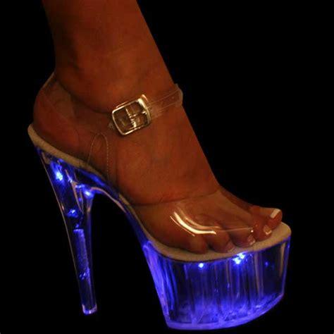 light up heels real shoes for strippers light up platform