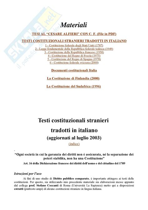 test di diritto costituzionale diritto costituzionale costituzioni straniere