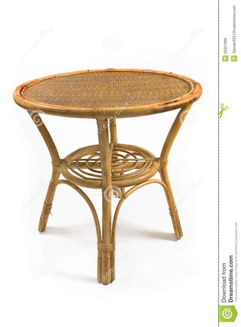 rattan table stock photo image  estate furniture