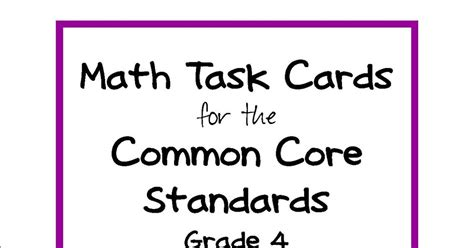 Simply Centers Common Core Grade 4 Math Task Cards