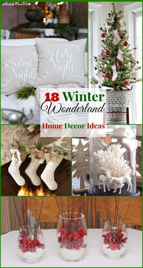 18 winter wonderland home decor ideas the weekly round up this silly girl s kitchen