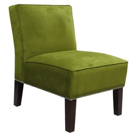 armless upholstered chair green silver new house ideas