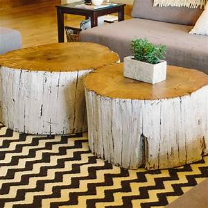 round whitewashed tree trunk coffee table on black white With round tree trunk coffee table