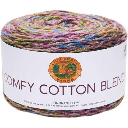 lion brand comfy cotton blend stained glass yarn  yd