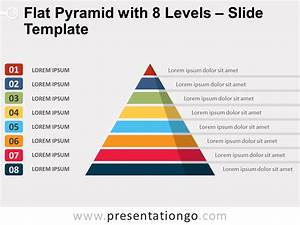 Flat Pyramid With 8 Levels For Powerpoint And Google Slides