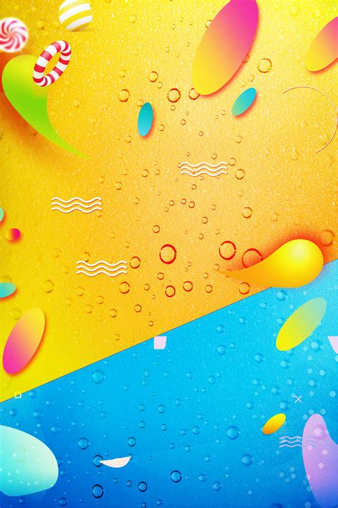 creative summer cool drink background template fruit
