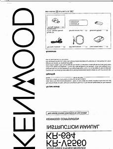 Kr-v5560 Manuals
