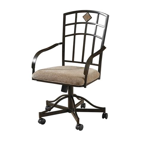 powell jefferson dining arm chairs with casters set of 2