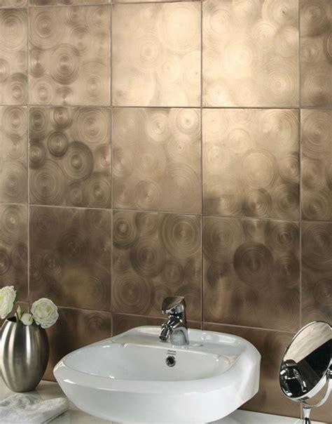 Metallic Bathroom Tiles by Shiny Wall Tile Decor Ideas Metallic Bathroom Modern