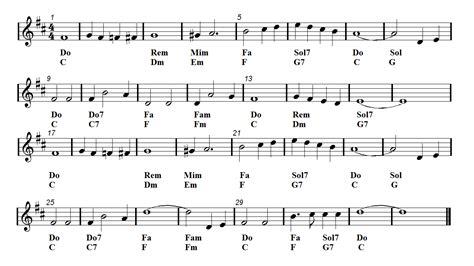 White Christmas Piano Chords