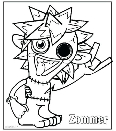 Silly Monster Coloring Pages at GetColorings com Free