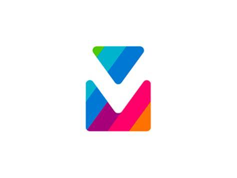 viamail via mail v m monogram logo design symbol by alex tass logo designer dribbble