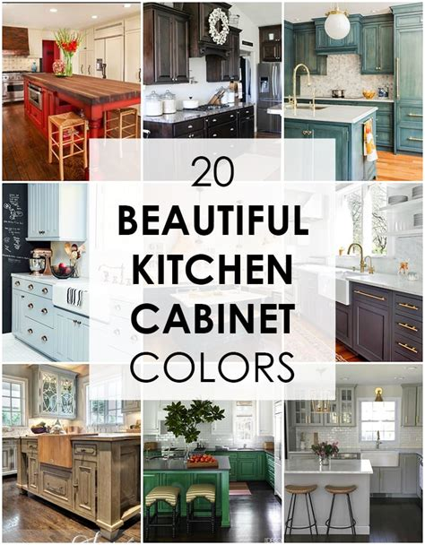 Well, we have several cabinet color ideas for your kitchen. 20 Beautiful Kitchen Cabinet Colors - A Blissful Nest