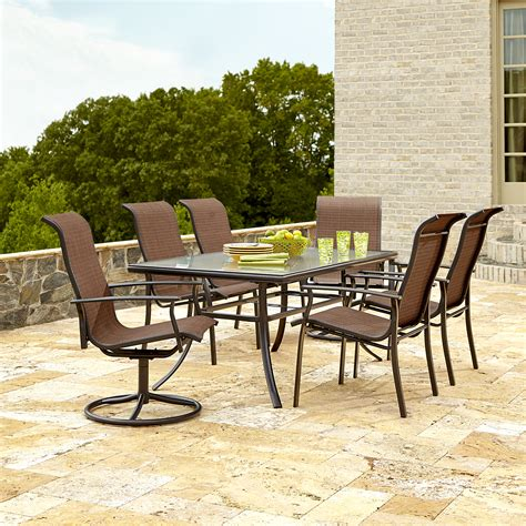 garden oasis harrison 7 dining set in copper sears