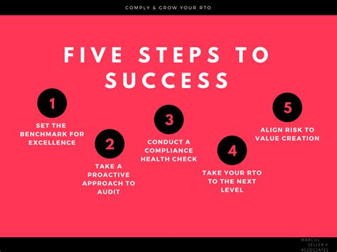 Comply & Grow Your Rto Five Steps To Success  Rto Advance