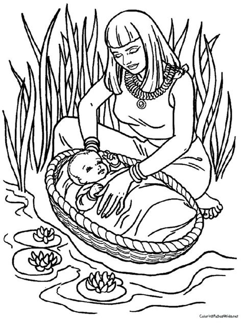 Week 7 Bible Story Baby Moses Coloring Page