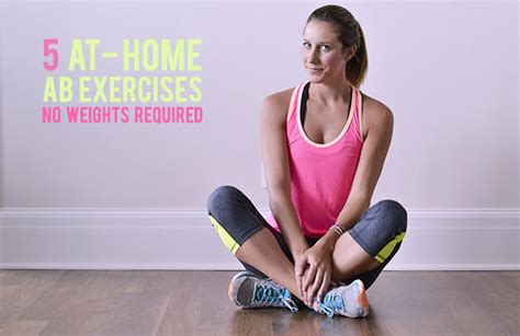 5 At Home Ab Workouts