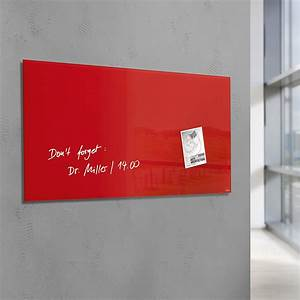 Tableau Aimanté Pour Photos : tableau rouge aimant en verre pour les bureaux ~ Dailycaller-alerts.com Idées de Décoration