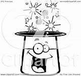 Magic Hat Cartoon Clipart Character Coloring Smiling Happy Vector Cory Thoman Outlined 2021 sketch template