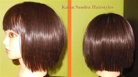 Short Layered Bob Haircut Tutorial With Bangs